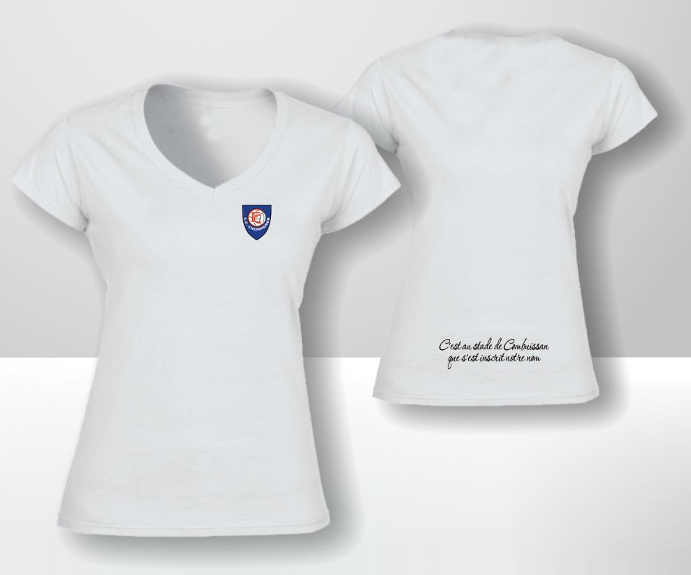 T-shirt blanc femme